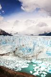 Perito Moreno Glacier, parc national de visibilité directe Glaciares dans le sud-ouest S Image stock