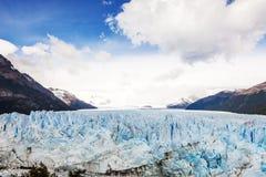 Perito Moreno Glacier, parc national de visibilité directe Glaciares dans le sud-ouest S Image libre de droits