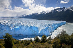 Perito Moreno Glacier - Patagonia - Argentina. The Perito Moreno Glacier is a glacier located in the Andes Mountains in the Los Glaciares National Park in the Stock Photo