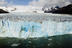 Perito Moreno Glacier, Patagonia, Argentina. The Perito Moreno Glacier Calving into Lago Argentino, Los Glaciares National Park, El Calafate, Patagonia Royalty Free Stock Photo