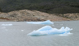 Perito Moreno glacier in Patagonia. Ice blocks Royalty Free Stock Photos
