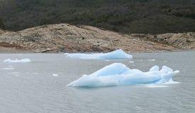 Perito Moreno glacier in Patagonia. Ice blocks Royalty Free Stock Photos