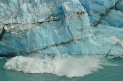 Perito Moreno Glacier Ice Breaking. Perito Moreno Glacier Piece of Ice suddenly falling to the lake Royalty Free Stock Photography