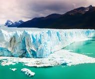 Perito Moreno Glacier. Spectacular view on the Perito Moreno Glacier in Los Glaciares National Park in Argentina Stock Photos
