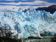 Perito Moreno Glacier in summer Royalty Free Stock Photos
