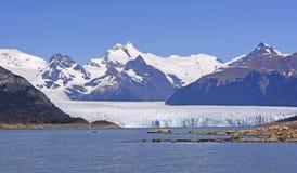 Perito Moreno Glacier sur Sunny Day Image libre de droits