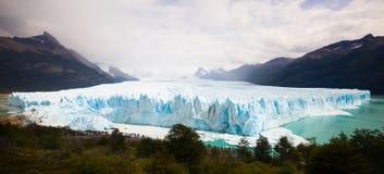 Perito Moreno Glacier. View on the Perito Moreno Glacier and surroundings in Los Glaciares National Park in Argentina Royalty Free Stock Photos