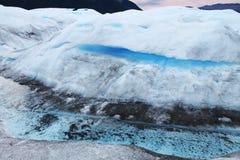 Perito Moreno lodowa Różne tekstury i kolory, Patagonia Argentyna zdjęcia stock