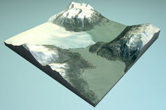 Perito Moreno, satellite view, glacier Stock Photography