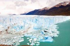 Peritoen Moreno Glacier som lokaliseras i Santa Cruz Provine Argenti Arkivfoton