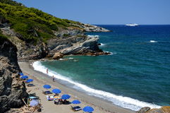 Perivoliou beach Skopelos island stock photos