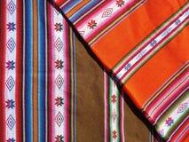 Perivuan textile. Peruvian textil. handmade. horizontla image Stock Photo