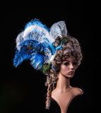 Periwig in baroque style Royalty Free Stock Image