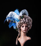 Periwig in baroque style Royalty Free Stock Images
