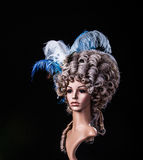 Periwig in baroque style Stock Photos