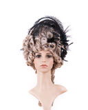 Periwig in baroque style Stock Images