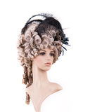 Periwig in baroque style Stock Image