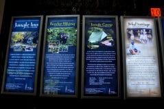 Periyar National Park and Wildlife Sanctuary. December 09,2012 Periyar,Kumily,Idukki,Kerala,India,Asia-Advertise glow sign board in the forest office of Periyar royalty free stock photos