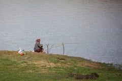 PERIYAR WILDLIFE SANCTUARRY, INDIA-FEBRUARY 20: Fisheman 20, 201 Royalty Free Stock Photo