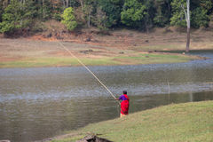 PERIYAR WILDLIFE SANCTUARRY, INDIA-FEBRUARY 20: Fisheman 20, 201 Royalty Free Stock Image