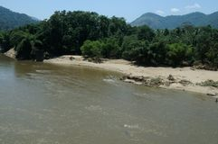 Periyar znaczenie: duża rzeka długa rzeka i rzeka z wielkim rozładowanie potencjałem w Indiańskim stanie Kerala, zdjęcia stock