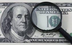 Perizia dei soldi Immagini Stock Libere da Diritti