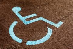 Perjudique la muestra del sillón de ruedas Fotos de archivo libres de regalías