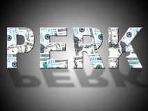 Perk Dollars Represents United States And Bank Stock Image