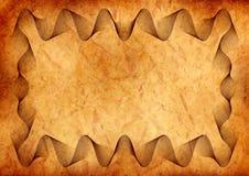 Perkament met guilloche grens Royalty-vrije Stock Afbeelding