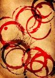 Perkament met rode vlekken Royalty-vrije Stock Fotografie