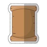 Perkamentdocument geïsoleerd pictogram Stock Afbeelding