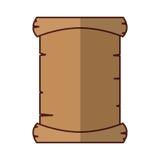 Perkamentdocument geïsoleerd pictogram Royalty-vrije Stock Foto
