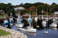 Perkins Cove Harbor Stock Image