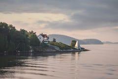 Perkins Island Light Fotografie Stock Libere da Diritti