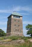 Perkins Memorial Tower. Standing at the top of Bear Mountain, this tower has the highest vantage point 75 miles outside of NYC and some spectacular scenery Royalty Free Stock Images