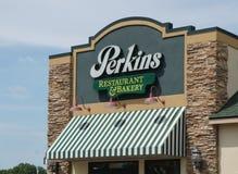 Perkins Restaurant en Bakkerijbuitenkant en Embleem Royalty-vrije Stock Afbeelding