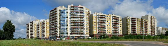 Perkunkiemis residential block Stock Image