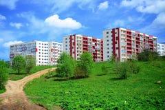 Perkunkiemis woonblok - nieuwe mening van Vilnius-stad Royalty-vrije Stock Afbeelding
