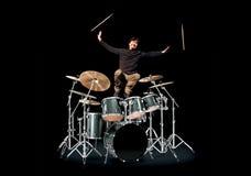 perkusista szczęśliwy Fotografia Stock