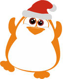 Perky Penguin. With Santa hat Royalty Free Stock Photo