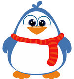 Perky Penguin with scarf. Pudgy little penguin wearing a scarf Royalty Free Stock Photos