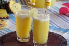 Perky pineapple a super delicious summer drink. A tangy, tasty and extremely refreshing drink which is packed with full of nutrients and it is one of the great Royalty Free Stock Image