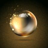 Perl brillante de oro Imágenes de archivo libres de regalías