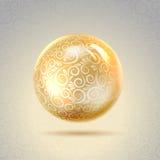 Perl brillante de oro Foto de archivo libre de regalías