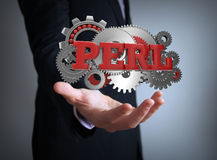 Perl coding Stock Image