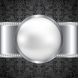 Perl and silver frame Royalty Free Stock Photo