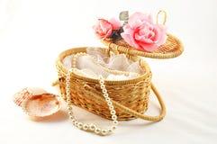 Perla in cestino Immagini Stock