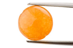 Perla circolare di Calcedony Fotografia Stock