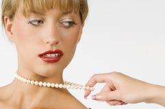 Perla del collar Imagen de archivo libre de regalías