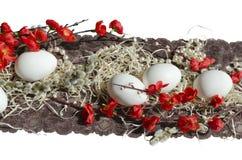 Perla del pizzo del tessuto del dolce dell'uovo di Pasqua Immagini Stock Libere da Diritti